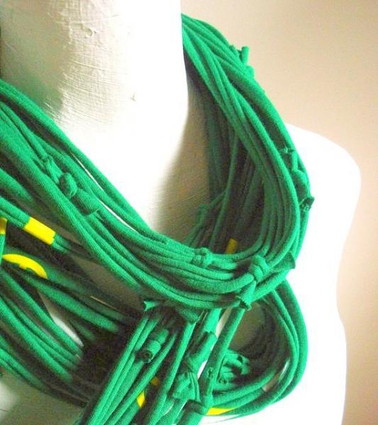 Organic Cotton Emerald Infinity Green Pantone Color of the Year Upcycled Kelly