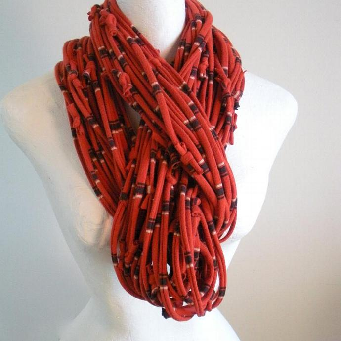 Koi Super Chunky Infinity Scarf Burnt Orange Cowl Scarf Rust Pantone Fall