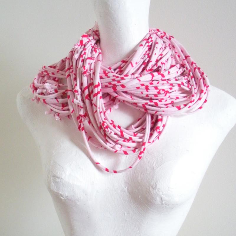 com concord infinity knit acrylic pink by scarf scarves