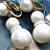 Vintage Crown Trifari Faux Pearl Dangle Earrings