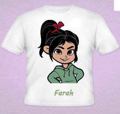 Vanellope  Tee All Sizes Free Name Included