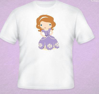 Princess Sophia Inspired Tee All Sizes Free Name Included