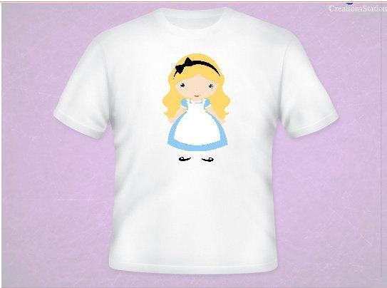 Alice In Wonderland Inspired Tee All Sizes Free Name Included