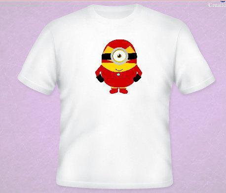 Iron Man Minion Tee All Sizes Free Name Included Free name included