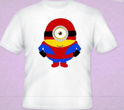 Spiderman  Minion Tee All Sizes Free Name Included Free name included