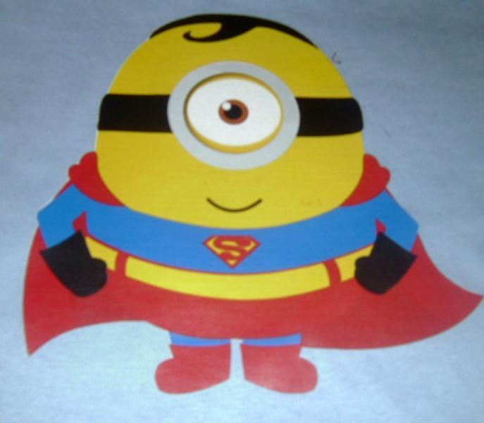 Super Man Minion Tee All Sizes Free Name Included Free name included