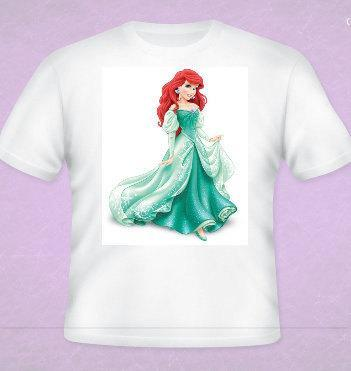 Disney Princess Ariel Shirt All Sizes Free Name Included