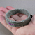 beaded grey cotton bangle bracelet beaded bracelet hand dyed cord bangle fabric