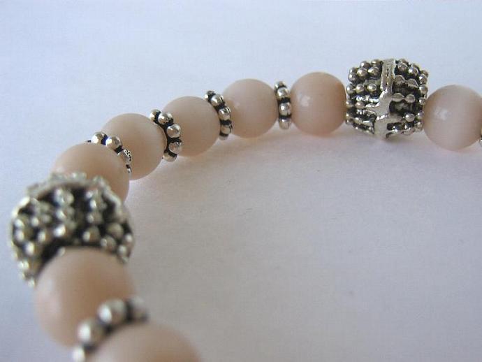 Cancer awareness bracelet peach