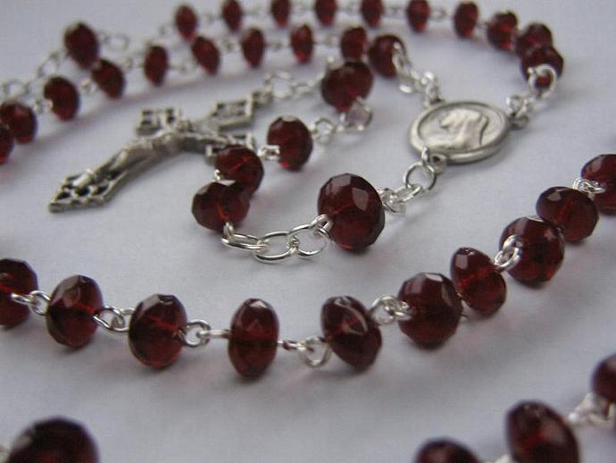 Catholic rosary January birthstone