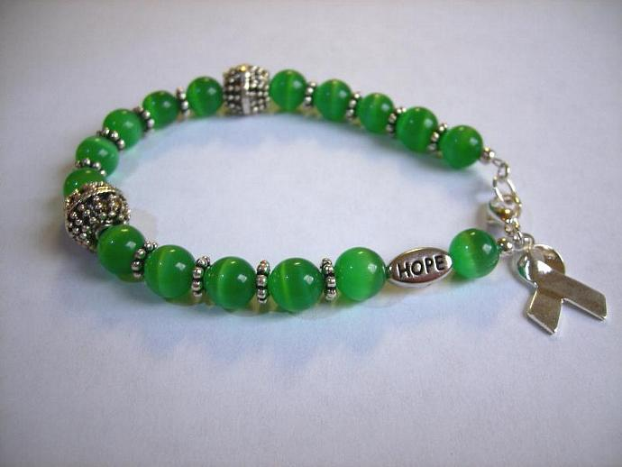 Cancer awareness bracelet green