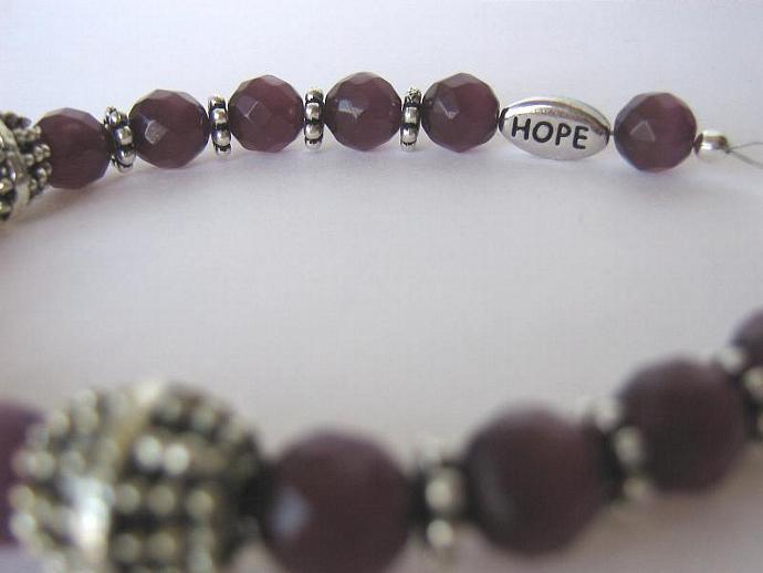 Cancer awareness bracelet purple