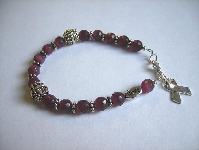 Cancer awareness bracelet purple