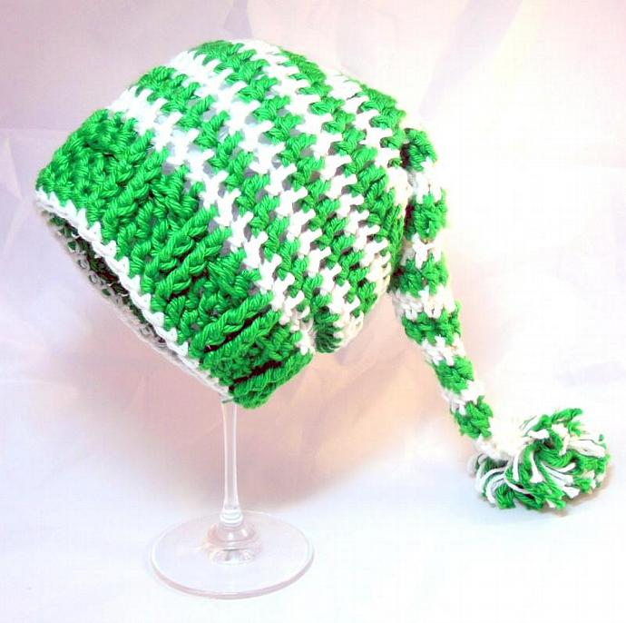 1fdb06a5702 Elf Hat crochet striped stocking cap baby hat baby hat baby cap long tailed