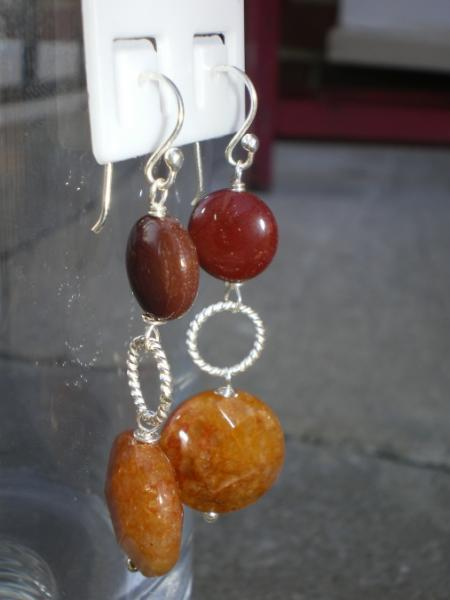 Mookiate/Adventurine earrings