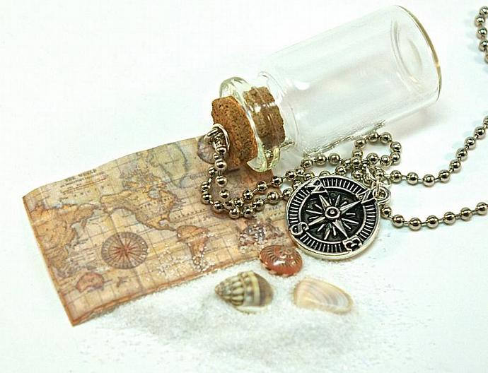 Map bottle necklace glass bottle with old world by trio3 on zibbet map bottle necklace glass bottle with old world map nautical anchor charm gumiabroncs Gallery