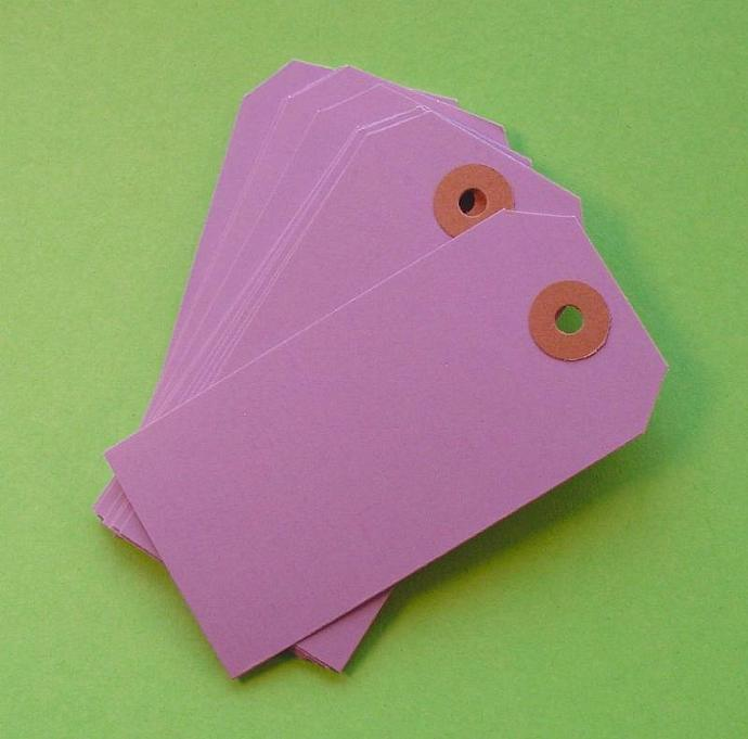 25 light purple lavender paper shipping tags  / size 3 medium