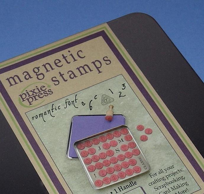 rubber stamps alphabet magnetic set / 41 pieces