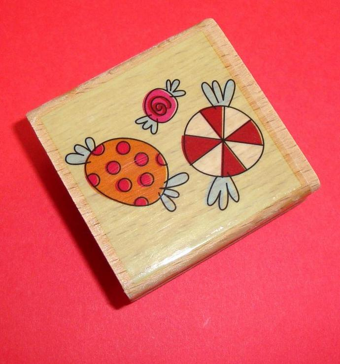 rubber mounted stamp / candy