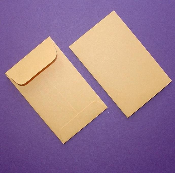 mini kraft envelopes / 24 pieces