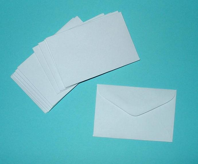 50 extra tiny white envelopes