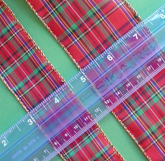 holiday plaid ribbon / 3 bolts / 30 yards / 2.5 inch width