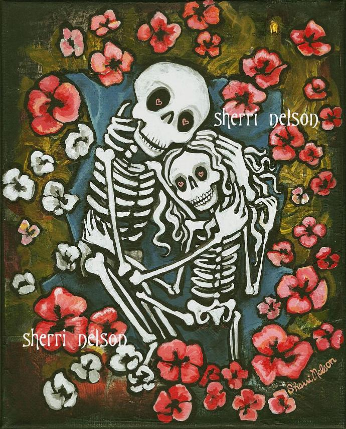 Forever Love Day Of The Dead Art