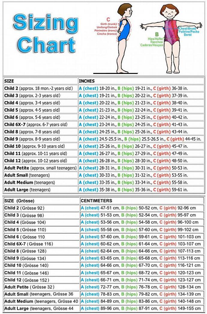 Gymnastics Girls Leotard Child size 10 & custom sizes fuchsia green blue rainbow