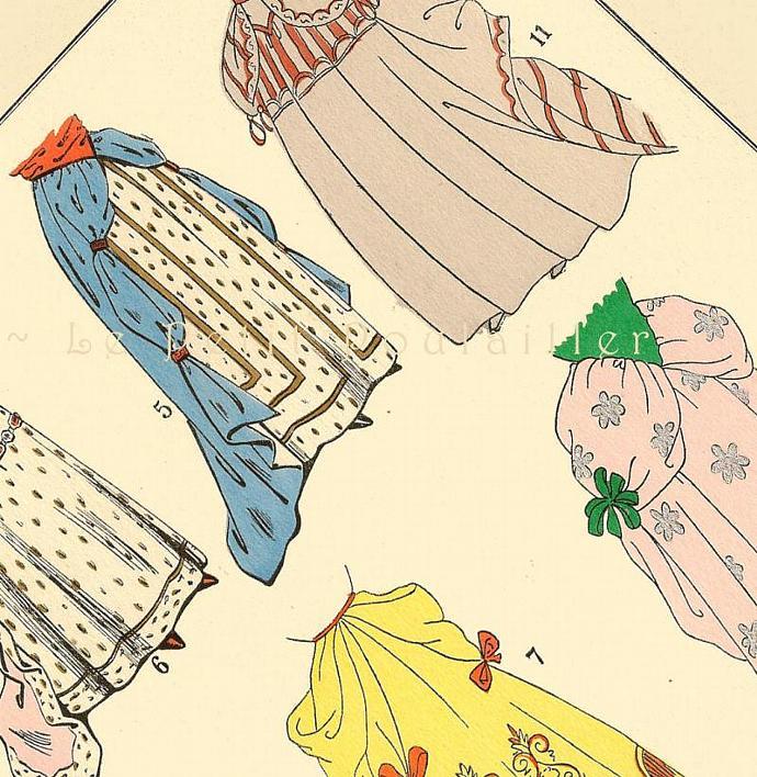 King Louis XIV Skirt Styles and Couture 1925 Antique Paul Louis de Giafferri