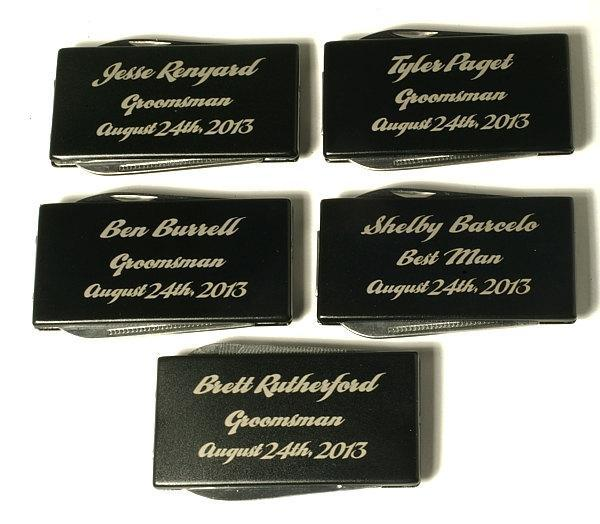SET OF 9,Laser Engraved,Personalized Money Clip,Multitool,Groomsman Gift,Best