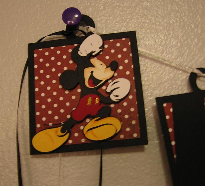 Mickey Inspired  Birthday Banner
