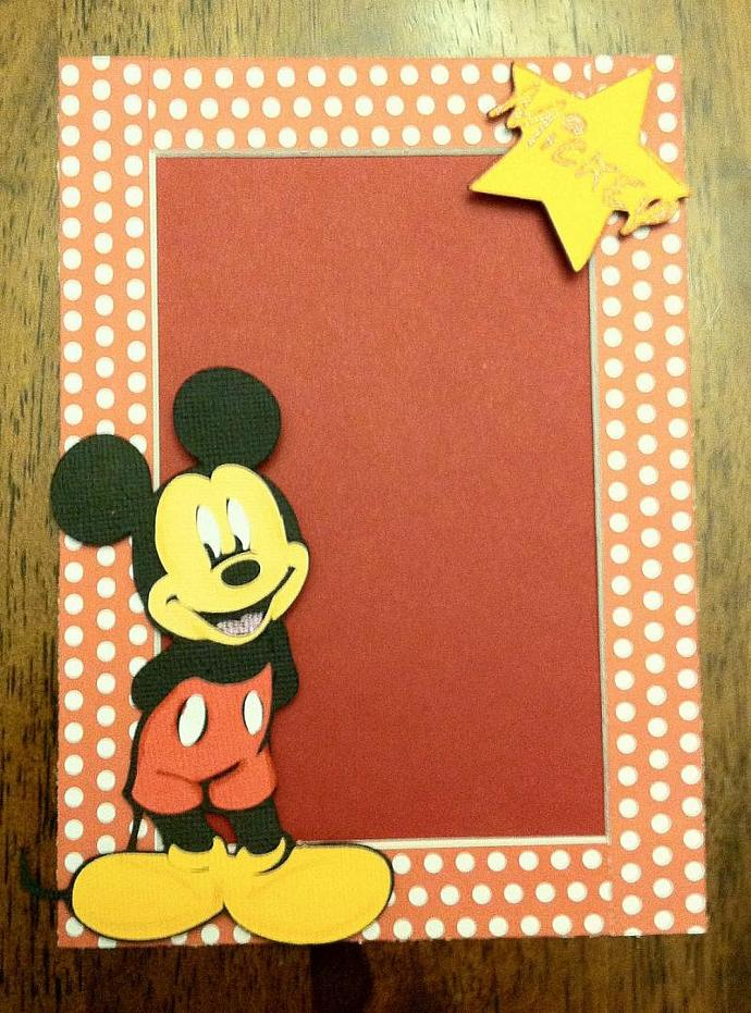 Mickey Mouse Photo Mat fits a 5x7 Frame