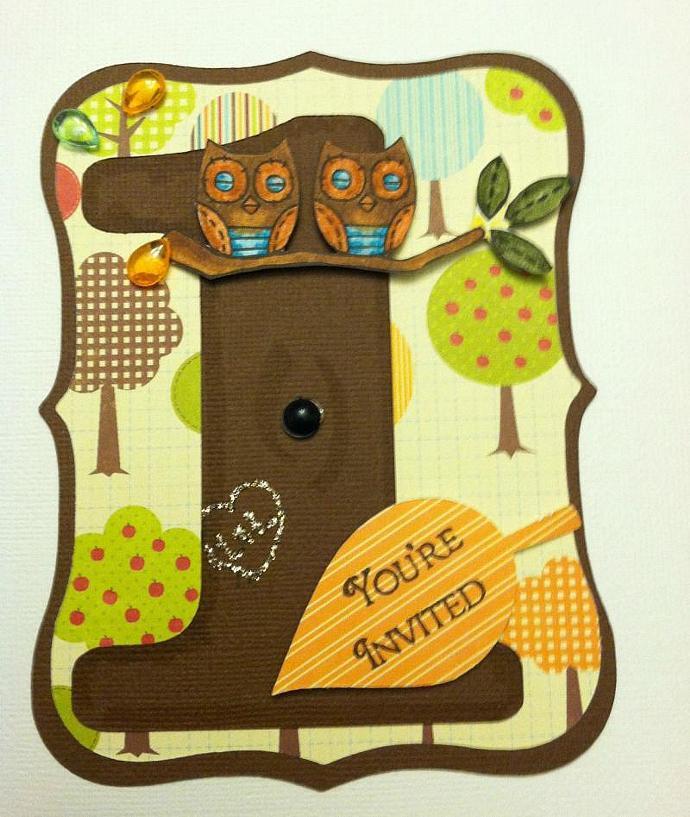 Twin Owl Woodland Invites