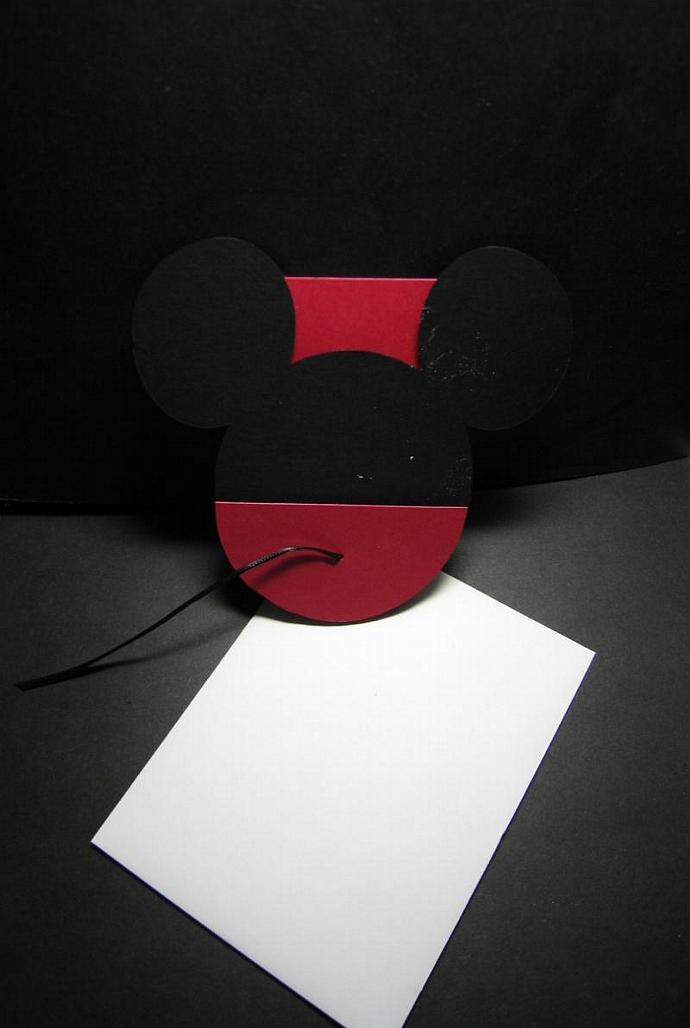"5.250"" Mickey Pocket Invites with rectangular insert"