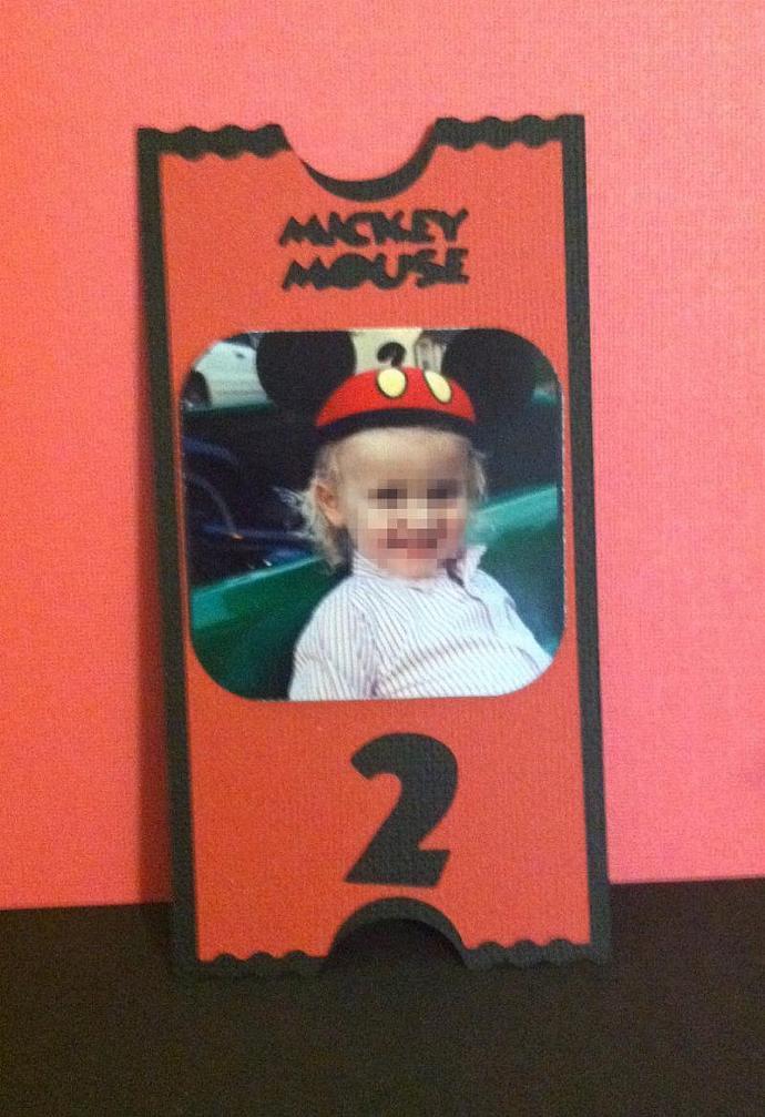 Mickey Photo Pocket Invites