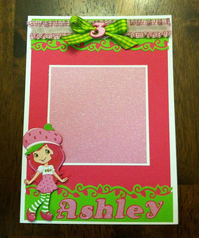 Modern Strawberry Shortcake Inspired Photo Mat