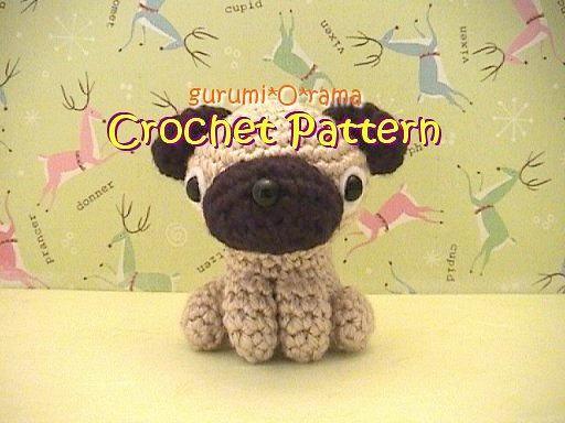 crochet pattern Pug amigurumi PDF guide