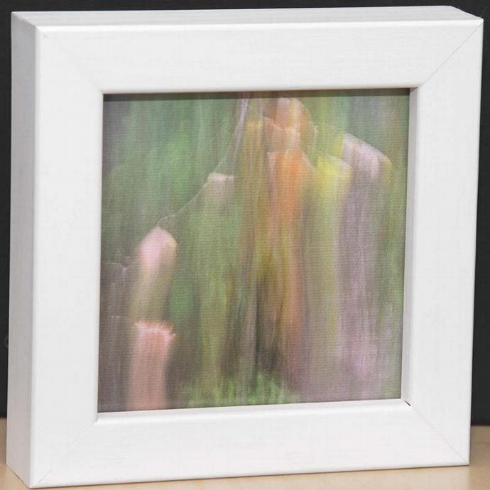 Small White Box Framed Abstract Canvas Print
