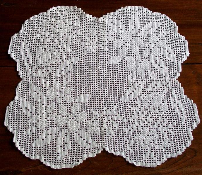 White Inspiration Portuguese Crochet Cushion By Funnybanana On Zibbet