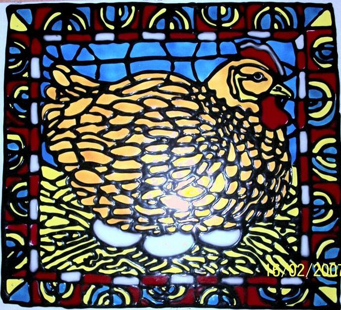 Mosaic-Hatching Hen-Broody Hen