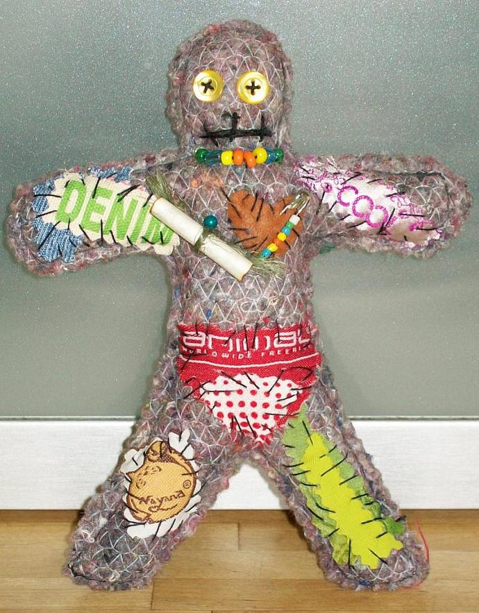 VOODOO Rag Doll Stress Reliever Lavender 3rd edition