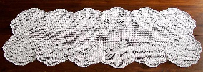 White Inspiration Portuguese Crochet Table By Funnybanana On Zibbet