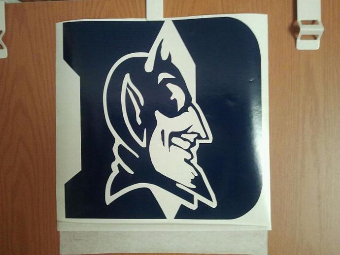 Duke Blue Devil Vinyl Decals - 2 - 11.45 Vinyl Decals