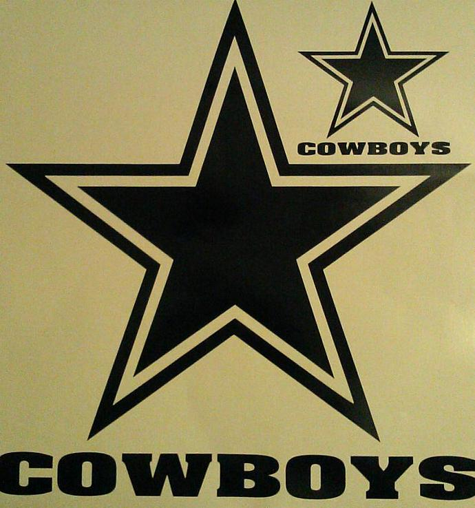 New Dallas Cowboys FOOTBALL Cornhole Decals - Ready To Apply 5 Year Outdoor