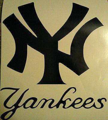 New York Yankees With Letters Cornhole Decals - New Vinyl Decals Cornhole Decals