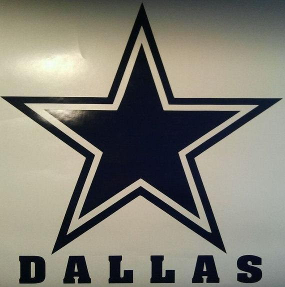 New Dallas Cowboys Window Decals - Ready To Apply 5 Year Outdoor Vinyl