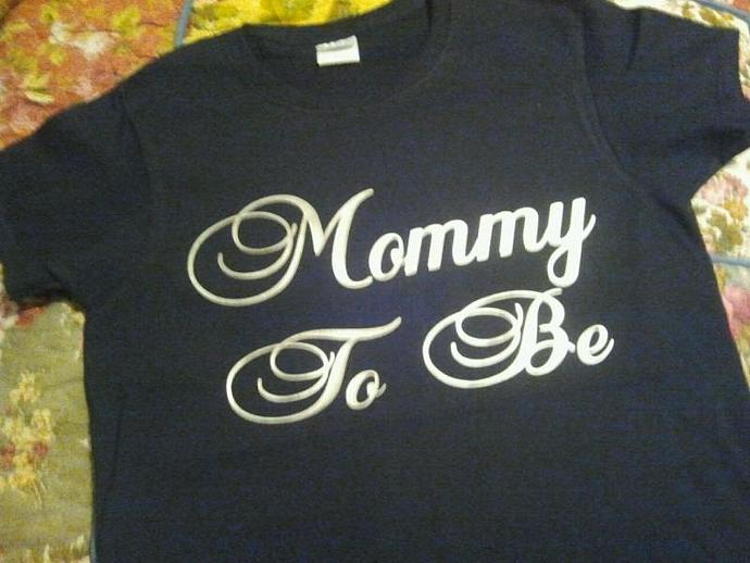 New Mommy To Be Quality Tee Shirt All Sizes - Dry Blend Cotton