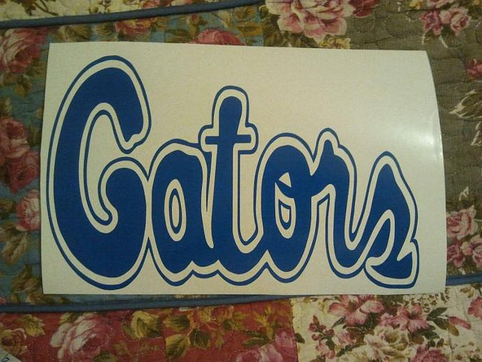 New NCAA Florida Gators Cornhole Decals - Ready To Apply 5 Year Outdoor Vinyl