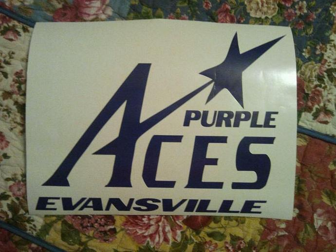New Evansville Purple Aces Cornhole Decals - Ready To Apply 5 Year Outdoor Vinyl