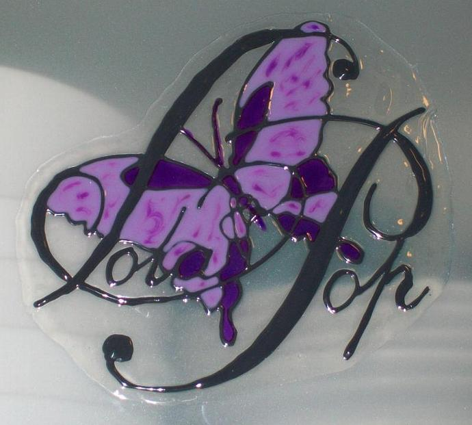 Company/Shop/Stall Business Logo-Peelable Glass Painting Stainning